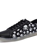 Women's Shoes PU Fall Winter Comfort Sneakers Round Toe For Outdoor Black