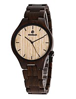 Men's Wood Watch Japanese Quartz Wooden Wood Band Luxury Elegant Black
