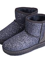 Women's Boots Comfort PU Winter Casual Flat Heel Blushing Pink Silver Black Flat