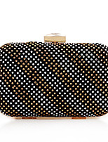 Women Bags All Seasons Polyester Evening Bag Rhinestone for Wedding Event/Party Formal Champagne Black