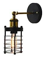 AC 110-120 AC 220-240 40 E26/E27 Simple Vintage Country Retro Painting Feature for Mini Style Bulb Included,Ambient Light Wall Sconces