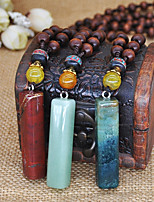 Men's Women's Pendant Necklaces Chain Necklaces Collar Necklace Wood Turquoise Basic Handmade Fashion Jewelry ForWedding Party Engagement