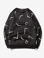 Men's Sports Plus Size Round Neck Abstract Pattern Printed Sweatshirt