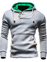 Men's Sports Casual/Daily Simple Hoodie Solid Hooded Micro-elastic Cashmere Long Sleeve Spring Fall