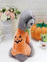 Cane Felpa Abbigliamento per cani Da serata Vacanze Casual Cosplay Sportivo Natale Halloween Zucca Giallo