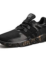 Da uomo Sneakers Comoda Primavera Autunno Maglia traspirante Ginnastica Sportivo Casual Elastico Piatto Bianco Nero Bianco/nero Piatto