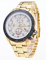 Men's Dress Watch Fashion Watch Wrist watch Chinese Quartz Calendar Metal Stainless Steel Band Cool Silver Gold Rose Gold