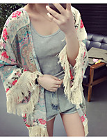 Women's Casual/Daily Simple Blouse,Floral Round Neck Half Sleeves Others