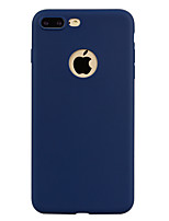 Per iPhone X iPhone 8 Custodie cover Traslucido Custodia posteriore Custodia Tinta unica Morbido TPU per Apple iPhone X iPhone 8 Plus