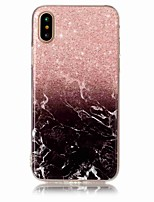 Per iPhone X iPhone 8 iPhone 8 Plus Custodie cover IMD Custodia posteriore Custodia Effetto marmo Morbido TPU per Apple iPhone X iPhone 8