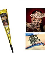 12X Natural Henna Temporary Tattoo Ink Brown Color- India Mehendi Ink For Body Art Painting for Men & Women