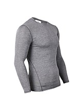 Men's Baselayer Long Sleeves Sweat-Wicking Breathability T-shirt Top for Running/Jogging Casual Exercise & Fitness Fitness Nylon Slim