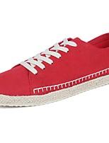 Da uomo Sneakers Comoda Primavera Autunno PU (Poliuretano) Casual Lacci Piatto Nero Grigio Rosso Nero/Rosso Piatto