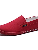 Men's Loafers & Slip-Ons Comfort PU Spring Fall Casual Flat Heel Ruby Gray Black Flat