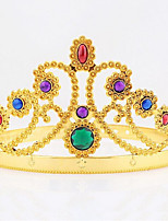 Halloween Christmas Birthday Queen Crown Mounted Gem Jewel Head Gear Cosplay Carnaval Masquerade Party Costume Prop