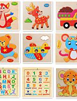 Fidget Desk Toy Blocs de Construction Puzzle Carte d'Apprentissage Jouets Carré friut Animaux Garçons Fille Pièces