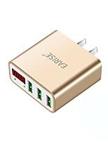 Caricabatteria USB 3 Porte Stazione di caricatore dello scrittorio Con Smart Identification Display LCD universale Adattatore di carica