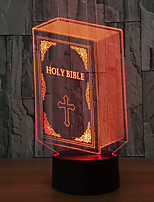 Basa Bible 3D 7 Color Led Night Lamps For Kids Touch Table Lampara