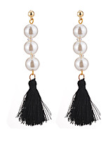Women's Drop Earrings Imitation Pearl Tassel Sexy Fashion Elegant Imitation Pearl Alloy Jewelry For Daily Casual Evening Party Formal Date