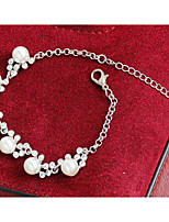 Bracelet Chain Bracelet Tennis Bracelet Alloy Imitation Pearl Rhinestone Irregular Imitation Pearl Personalized Birthday Gift Daily