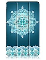 Maleri mønster tre gange pu læder taske med stativ til huawei mediapad t3 8,0 tommer tablet pc