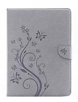 abordables -Caso para el ipad de la manzana (2017) pro 9.7 '' material de cuero de la PU material de flores de mariposa patrón de manga plana aire 2