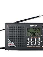 PL-505 Rádio portátil Radio FM Alto Falante Embutido Relogio Despertador Cinzento