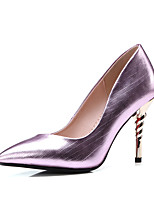 cheap -Women's Shoes Synthetic Microfiber PU Spring Summer Basic Pump Heels Stiletto Heel Pointed Toe for Wedding Party & Evening Gold Purple Red