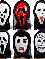 Halloween Masks Halloween Props Skull Mask Hand-Painted Mask Toys Ghost Plastics Eco-friendly Material Horror Theme Pieces N/A Adults'