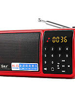 F60 Radio portable Lecteur MP3 Carte TFWorld ReceiverOr Rouge Bleu
