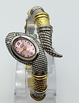 Damen Modeuhr Armbanduhr Quartz Metall Band Armreif Bequem Silber Gold