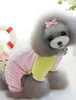 Dog Clothes/Jumpsuit Dog Clothes Casual/Daily Letter & Number Red Blue Blushing Pink
