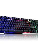 RUYINIAO V-8 Backlit Game Keyboard USB Cable 104 Keys Suspension Keycap