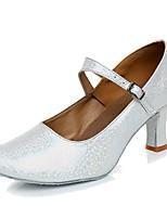 Da donna Danza moderna Materiali personalizzati Sneaker Per interni Tacco su misura Oro Argento Grigio Rosa Personalizzabile