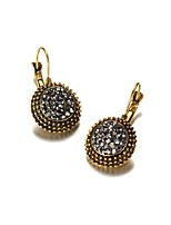 Women's Stud Earrings Crystal Fashion Vintage Crystal Alloy Circle Jewelry For Daily Casual Evening Party Formal Date