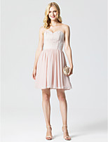 Princess Sweetheart Short / Mini Chiffon Lace Cocktail Party Dress with Pleats by TS Couture®