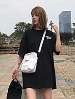 Tee-shirt Femme,Couleur Pleine Sortie Sexy Manches Courtes Col Arrondi Coton