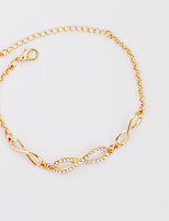 Bracelet Chain Bracelet Tennis Bracelet Alloy Rhinestone Bowknot Inspirational Birthday Gift Daily Casual Jewelry Gift Gold Silver,1pc