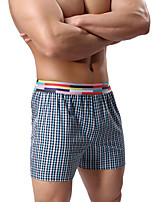 Men's Sports Color Block Boxer Briefs,Cotton