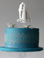 Decorazioni torte Coppiaclassica Matrimonio Feste Bustina PVC