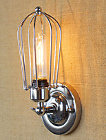 AC 110-120 AC 220-240 40 E26/E27 Simple Vintage Country Retro Electroplate Feature for Mini Style Bulb Included,Ambient Light Wall Sconces