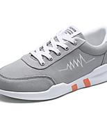 Men's Athletic Shoes Novelty PU Suede Spring Summer Athletic Casual Flat Heel Black/Green Black/Red Black Flat