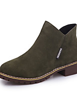 Women's Boots Snow Boots Fashion Boots Bootie Fall Winter Nubuck leather Leatherette Casual Outdoor Dress Chunky Heel Green Brown Black