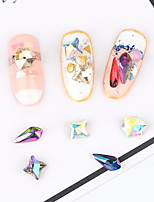 Pinpai Art of Irregular AB Magic Diamond 18PCS Nail Art Decoration Rhinestone Pearls Makeup Cosmetic Nail Art Design