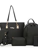 Women Bags All Seasons PU Bag Set Zipper for Casual Office & Career Blue Black Purple Fuchsia
