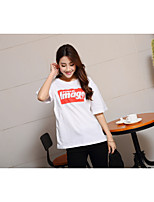 Women's Sports Simple T-shirt,Solid Round Neck Short Sleeves Cotton