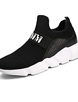 Men's Sneaker Comfort Light Sole Fall Winter Breathable Mesh PU Casual Outdoor Gore Flat Heel Black/White Gray Black Flat