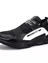 Da uomo Sneaker Suole leggere Primavera Autunno PU (Poliuretano) Casual Lacci Piatto Nero Piatto