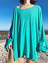 Tee-shirt Femme,Lettre Sortie simple Manches Longues Col Arrondi Coton