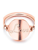 Per donna Fedine Di tendenza Adorabile Elegant Acciaio al titanio Circolare Gioielli Per Matrimonio Fidanzamento Quotidiano Cerimonia
